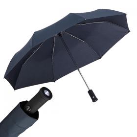 Taschenschirm mit LED-Leuchte, Glasfiberspeichen, windproof